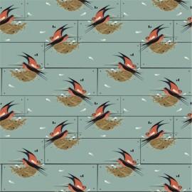 Tissu Toile de coton Barn Swallow - coton biologique x 15 cm