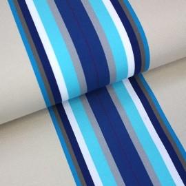 Tissu toile transat Playa Cap Ferret bleu (43cm) x 10cm