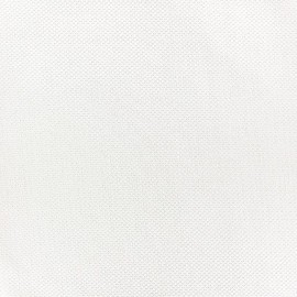 Tissu piqué de coton Perle blanc x 10cm