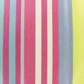 Tissu coton enduit Santacruz gris/grenadine x 10cm