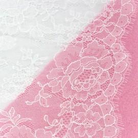 Tissu Dentelle de Calais® Blanc x 10cm