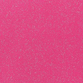 Tissu enduit paillettes fuchsia x 10cm