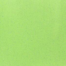 Tissu enduit paillettes jade x 10cm