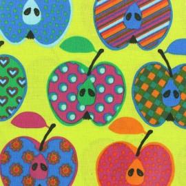 Tissu enduit coton Beautiful Apples anis x 10cm