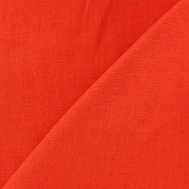 Tissu lin biologique orange x 10cm