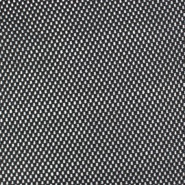 Tissu polyester résille noir x 10 cm