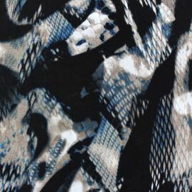 Tissu Satin Snake's Glint Turquoise x  50cm