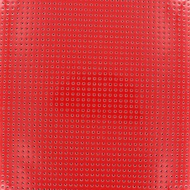Tissu vinyl laqué perforé rouge x 10cm