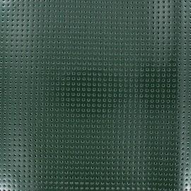 Tissu vinyl laqué perforé vert x 10cm