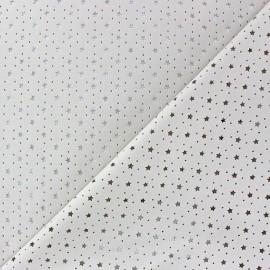 Simili cuir souple ajouré Stars écru x 10cm