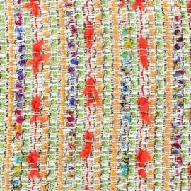 Tissu Tweed Léa rose x 10cm