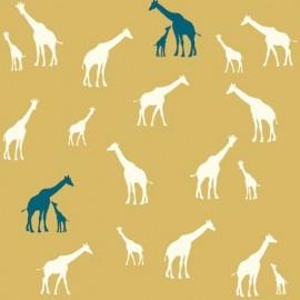 Tissu coton Giraffe Farm Sun x 10 cm