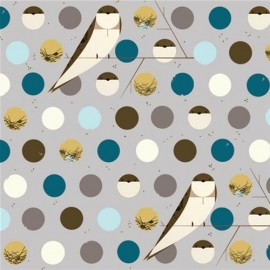 Tissu coton Bank Swallow Blue x 10 cm