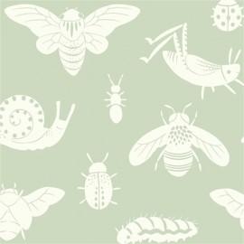 Tissu coton Bugs tonal Mint x 10 cm
