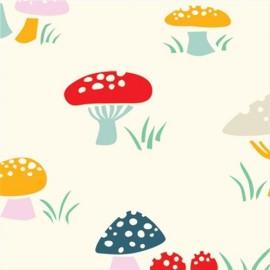 Tissu coton Mushroom S x 10 cm