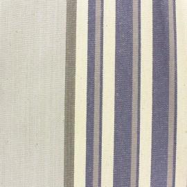 Tissu coton enduit Santacruz bleu x 10cm