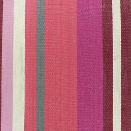 Tissu coton enduit Santacruz prune/lin x 10cm
