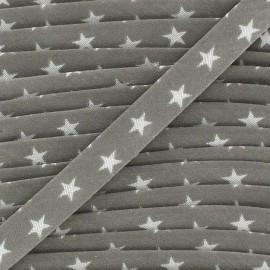 Biais replié étoiles blanches