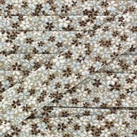 Biais Little Flowers marron