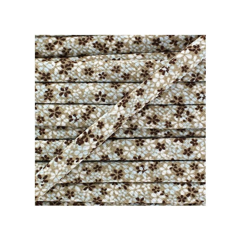 cordon little flowers marron x 50cm ma petite mercerie. Black Bedroom Furniture Sets. Home Design Ideas