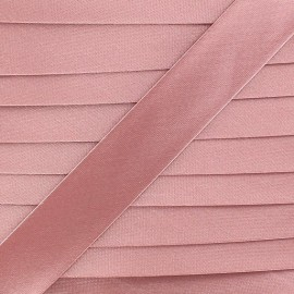 Biais satin rose dragée 20 mm