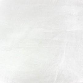 Tissu toile lin délavé (laize : 280cm) blanc x 10cm