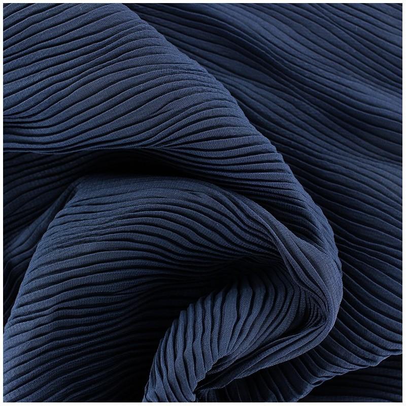 tissu pliss vague bleu marine x 10cm ma petite mercerie. Black Bedroom Furniture Sets. Home Design Ideas