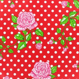 Simili cuir souple Rosa rouge x 10cm