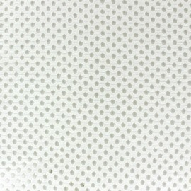 Mesh fabric Circle - ecru x 10cm