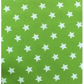 Tissu sweat Magic Vert anis x 10cm