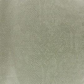 Tissu Suédine Girondine fond Vert de gris x 10cm