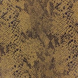 Tissu Suédine Python fond ocre x 10cm