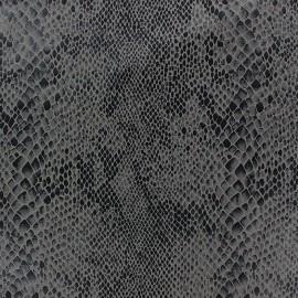 Tissu Suédine Python fond anthracite x 10cm