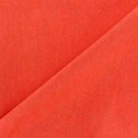 Tissu jeans 400gr/ml orange x 10cm