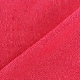 Tissu jeans 400gr/ml framboise x 10cm