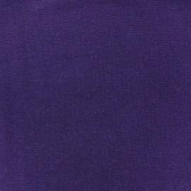 Jersey tubulaire bord-côte 1/1 violet x 10cm