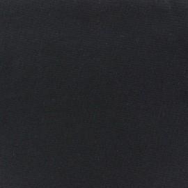 Jersey tubulaire bord-côte 1/1 noir x 10cm