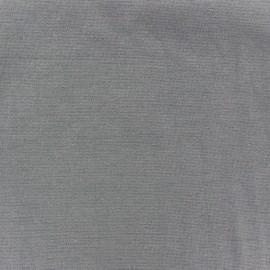 Jersey tubulaire bord-côte 1/1 gris x 10cm