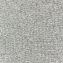 Jersey tubulaire bord-côte 1/1 gris clair chiné x 10cm