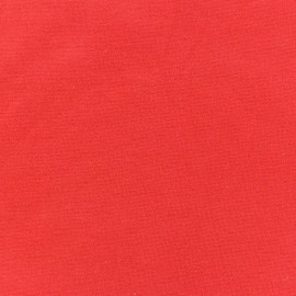 Jersey tubulaire bord-côte 1/1 rouge x 10cm