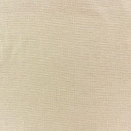 Jersey tubulaire bord-côte 1/1 beige x 10cm