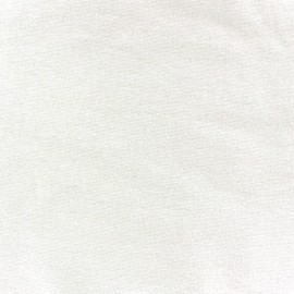 Jersey tubulaire bord-côte 1/1 écru x 10cm