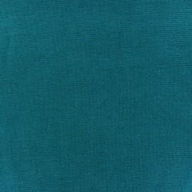 Jersey tubulaire bord-côte 1/1 bleu paon x 10cm