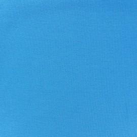Jersey tubulaire bord-côte 1/1 bleu turquoise x 10cm
