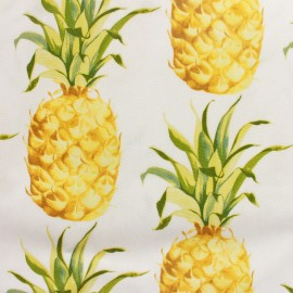 Tissu enduit vernis Ananas Tropical x 30cm