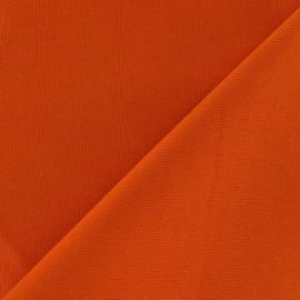 Tissu toile de coton uni CANEVAS Citrouille x 10cm
