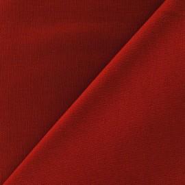Tissu toile de coton uni CANEVAS Rouge brique  x 10cm