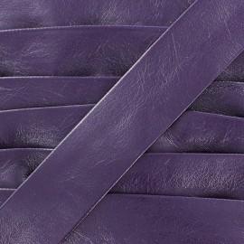 Biais simili Cuero violet 20 mm