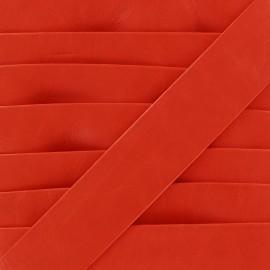 Biais simili Cuero rouge 20 mm