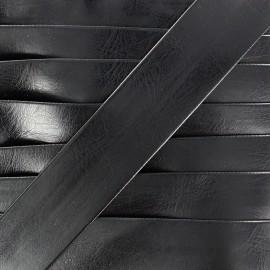 Biais simili Cuero noir 20 mm